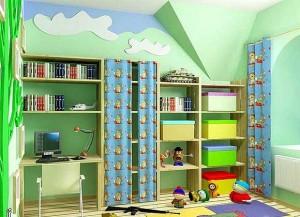 Колірне рішення дитячої кімнати